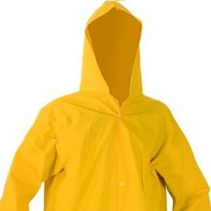 Capa de Chuva com Capuz Forrada Amarela Plastcor CA 36254