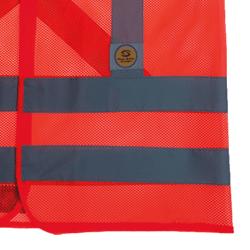 Colete de Sinalização Refletivo com Bolso Laranja Super Safety
