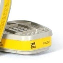 Cartucho Químico 3M Vapores Orgânicos e Gases Ácidos VO + GA 6003