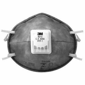 EPIs para Soldador - Máscara 3M 8013 Proteção Respiratória PFF1 com Válvula CA 9357