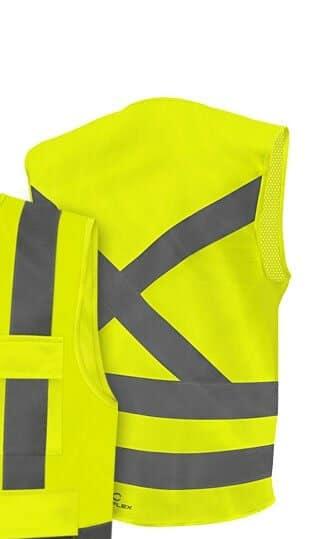 Coleto Refletivo com 4 Bolsos Amarelo Fluorescente Steelflex