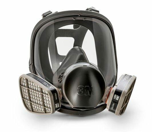 Respirador Facial Inteira Série 6800 3M Reutilizável CA 7298