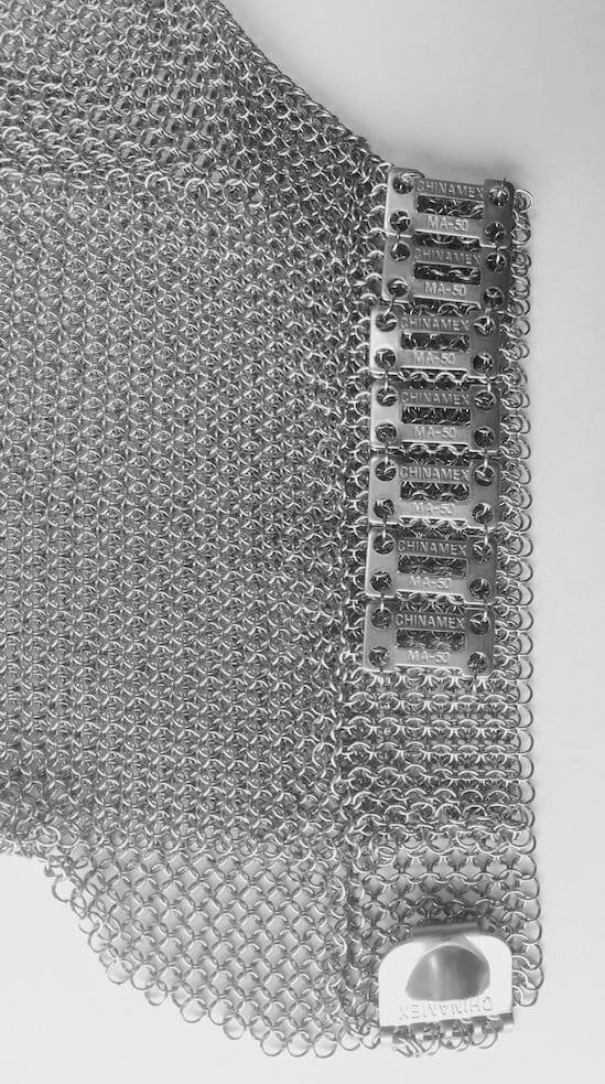 luva de segurança malha de aço chinamex ma50 ca32234