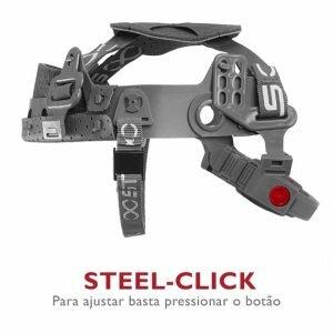 Capacete de Segurança Classe B Tipo II com Jugular e Botão Steelflex Turtle CA 35983