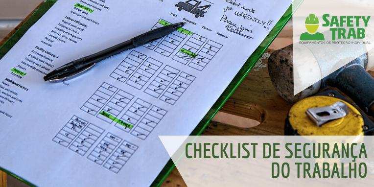 checklist de segurança do trabalho