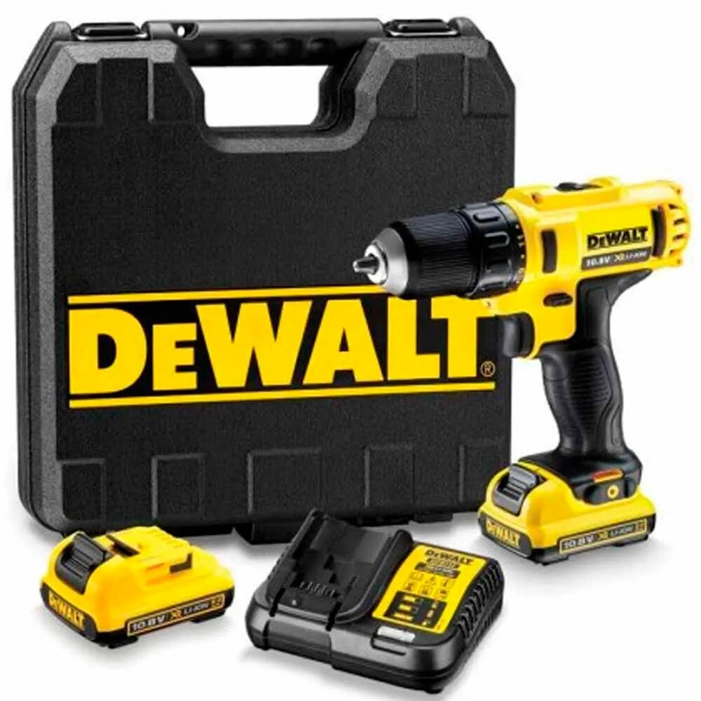"""Furadeira e Parafusadeira 3/8"""" com 2 baterias 12 volts de lítio DeWalt - DCD710D2"""