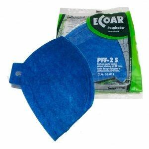 Máscara Respiratória PFF2 sem válvula Ecoar Plastcor CA 38811