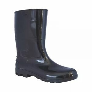 Bota de PVC Cano Médio Preta Safety Boots Kadesh CA 42149