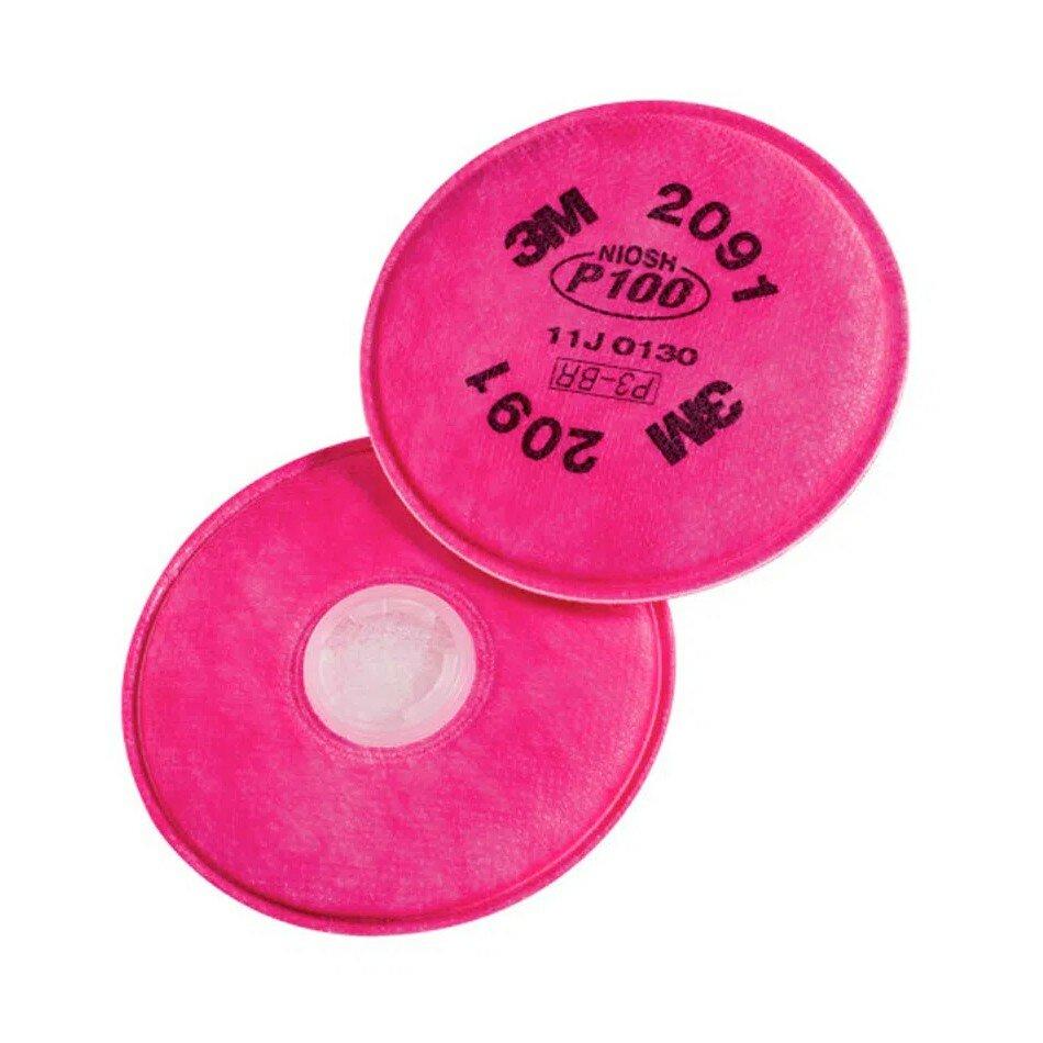 Filtro Mecânico 2091 3M P3 Para Particulados Altamente Tóxicos
