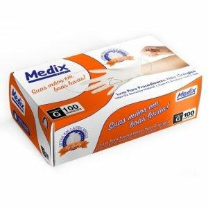 Luva de Procedimento Descartável Látex com Pó Medix CA 40590
