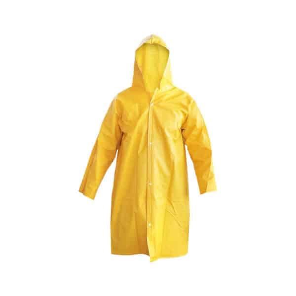 Capa de Chuva com Capuz Forrada Amarela Maicol CA 28191