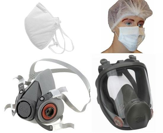 mascaras e respiradores para mão de obra terceirizada