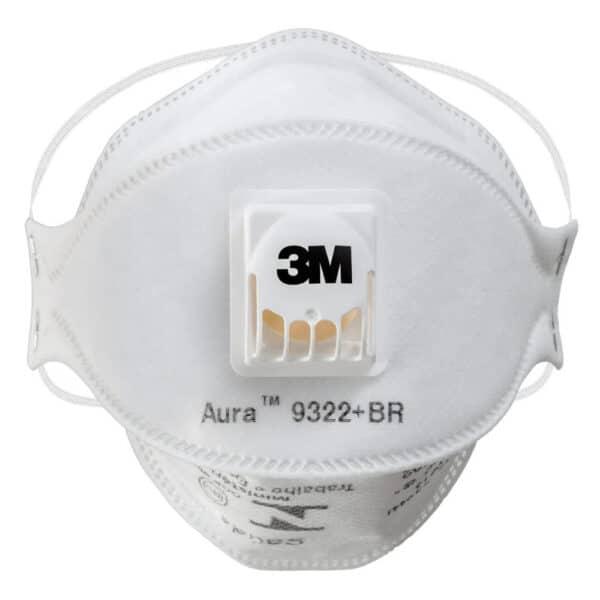 Máscara Respirador Descartável 3M Aura 9322+BR PFF2 com Válvula