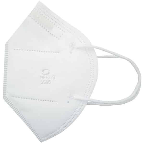 Respirador PFF2 N95 Branco sem Válvula El. Orelha Super Safety CA 44241